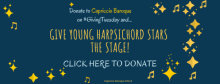 DONATE TO CAPRICCIO ON GIVING TUESDAY